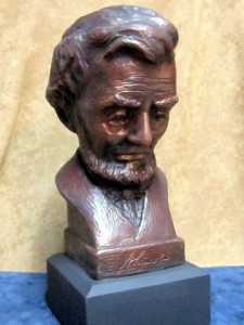 This Bust of Former President  Abraham Lincoln, Sculpted by Salisbury artist Robert Toth.