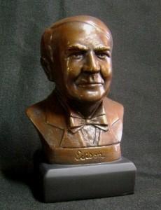 Thomas Edison Bust