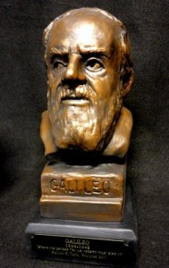 Galileo sculpted bust