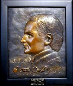 Harry Houdini sculpted bust