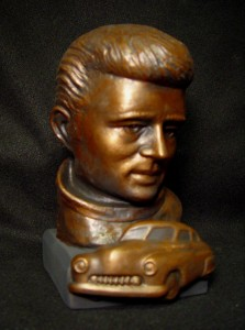 James Dean sculpted bust