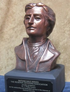 Nathan Hale sculpted bust