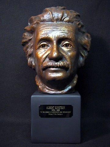 Albert Einstein sculpted bust