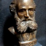 James Clerk Maxwell sculpted bust