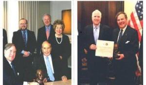 Awarded to Senators Robert Dole and John McCain and others