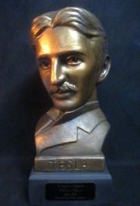 """Nikola Tesla - 21"""" Life Size mask (including base)"""