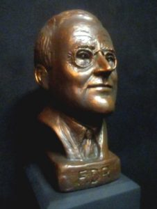 Franklin D. Roosevelt sculpted bust